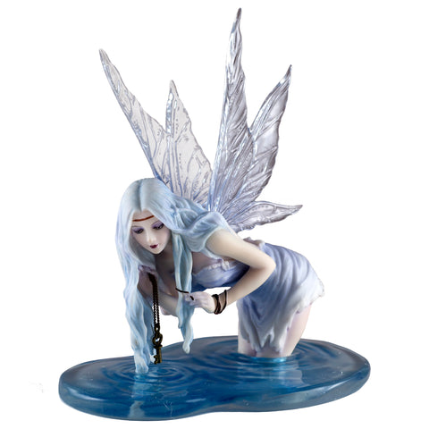 "Fairy In Water ""Fishing For Riddles"" Figurine 1"