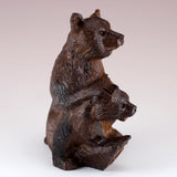 Bear With Cub Hand Carved Ironwood Wood Figurine 6