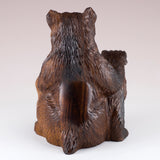 Bear With Cub Hand Carved Ironwood Wood Figurine 7