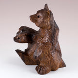 Bear With Cub Hand Carved Ironwood Wood Figurine 8