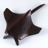 Manta Ray Hand Carved Ironwood Wood Figurine 6