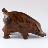 Pig Hand Carved Ironwood Wood Figurine 7