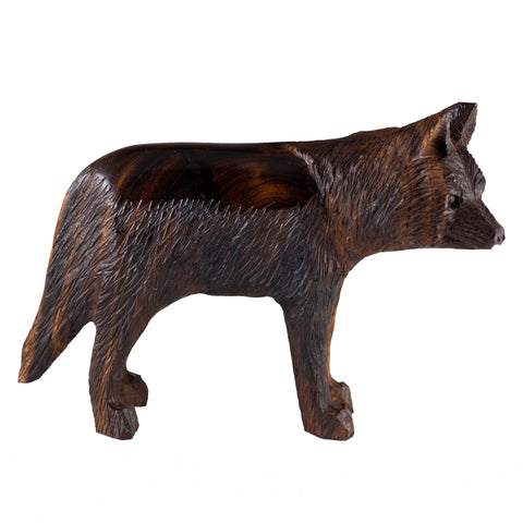 Wolf Hand Carved Ironwood Wood Figurine 1
