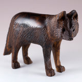 Wolf Hand Carved Ironwood Wood Figurine 2