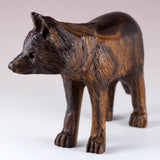 Wolf Hand Carved Ironwood Wood Figurine 3
