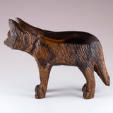 Wolf Hand Carved Ironwood Wood Figurine 4