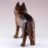 Wolf Hand Carved Ironwood Wood Figurine 5