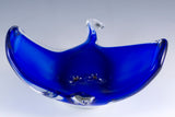 Blue Stingray Sting Ray Hand Blown Glass Figurine