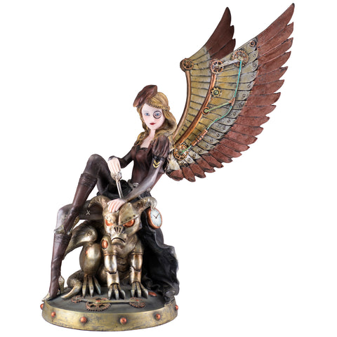 Steampunk Fairy on gargoyle figurine