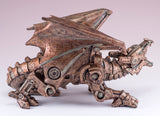 Steampunk Dragon Figurine Copper Colored