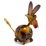 Handcrafted Brown Dog Figurine Tin Metal Animal Sculpture 5