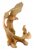 Eagle In Flight Faux Carved Wood Look Figurine