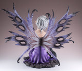 Fairy With Black Cat and Crow Figurine