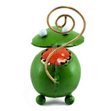 Handcrafted Green Frog Figurine Tin Metal Animal Sculpture 4
