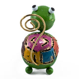 Handcrafted Green Turtle Figurine Tin Metal Animal Sculpture 4