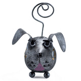 Handcrafted Gray Dog Figurine Tin Metal Animal Sculpture 2