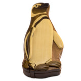 Wood Intarsia Penguin Puzzle Trinket Box