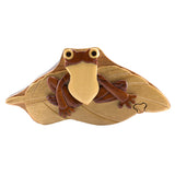Wood Intarsia Frog Puzzle Trinket Box