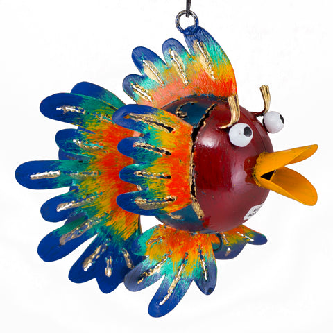 Handcrafted Hanging Fish Figurine Tin Metal Animal Sculpture 5