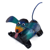 Handcrafted Dog Springy Head Figurine Tin Metal Animal Sculpture 1
