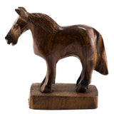 Horse Hand Carved Ironwood Wood Figurine