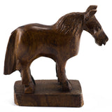 Horse Hand Carved Ironwood Wood Figurine  3