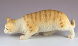 Orange Striped Cat Figurine Stalking