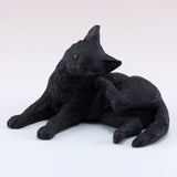 Black Cat Scratching Ear Figurine 1