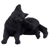 Black Cat Scratching Ear Figurine 7