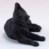 Black Cat Scratching Ear Figurine 3