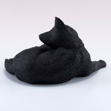 Black Cat Scratching Ear Figurine 4