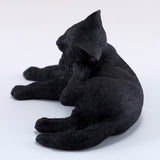Black Cat Scratching Ear Figurine 5