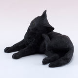 Black Cat Scratching Ear Figurine 6