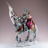 Armored Knight With Princess On Horse Figurine 2