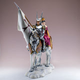Armored Knight With Princess On Horse Figurine 3