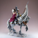 Armored Knight With Princess On Horse Figurine 4