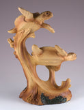 Pair of Sea Turtles Faux Carved Wood Look Figurine 3