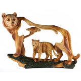 Tiger Faux Carved Wood Look Figurine