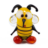 mini lampwork glass yellow bee 2