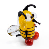 mini lampwork glass yellow bee 3