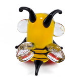 mini lampwork glass yellow bee 4