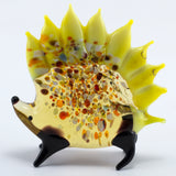 Lampwork Hand Blown Glass Yellow Porcupine Figurine 2
