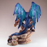Dragon With Knight On Horse Figurine 3