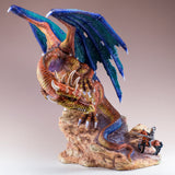 Dragon With Knight On Horse Figurine 4