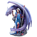 Dragon and Mage Woman Figurine 1