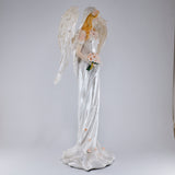 White Angel Bride Fairy Figurine 4
