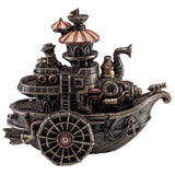 Steampunk Gondola Boat Ship Figurine Cold Cast Bronze Statue 1