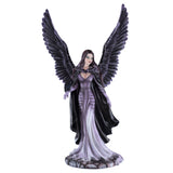 Gothic Angel Fairy With Black Crow Figurine 2
