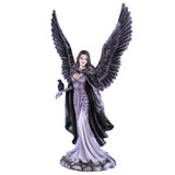 Gothic Angel Fairy With Black Crow Figurine 1