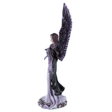 Gothic Angel Fairy With Black Crow Figurine 6